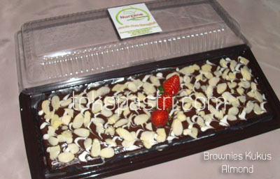 Brownkus Almond Brownies Kukus Almond