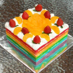 Toko kue |  Rainbow-Cake-Full-Fruits