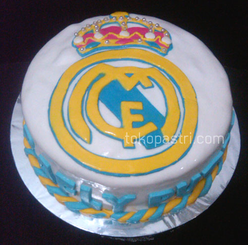 Real Madrid Fondant Birthday Cake